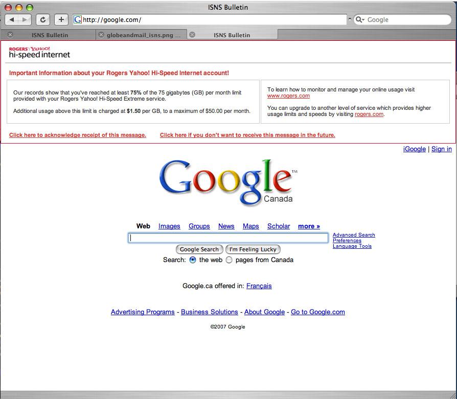 Lauren Weinstein's Blog: Google Hijacked -- Major ISP to