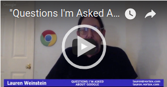 """Questions I'm Asked About Google"" #1 (2017-06-07)"